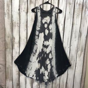 Tie Dye Summer Swim cover up Dress BoHo Free Size